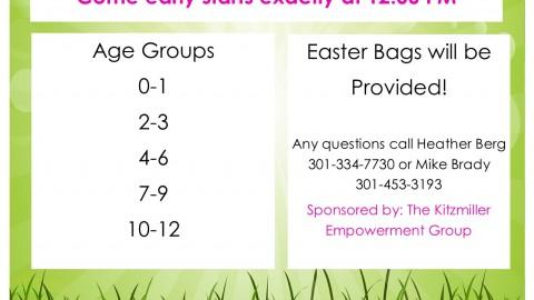 Kitzmiller Empowerment Group Easter Egg Hunt