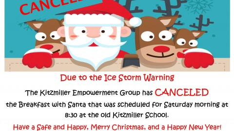 Kitzmiller Breakfast with Santa Canceled