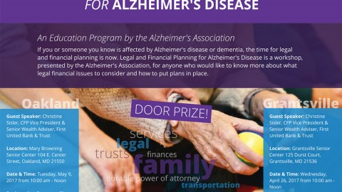Legal and Financial Planning for Alzheimer's Disease in Garrett County