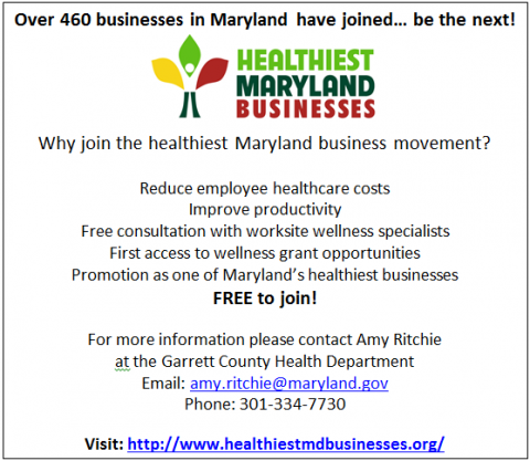 Be the next healthiest Maryland business!
