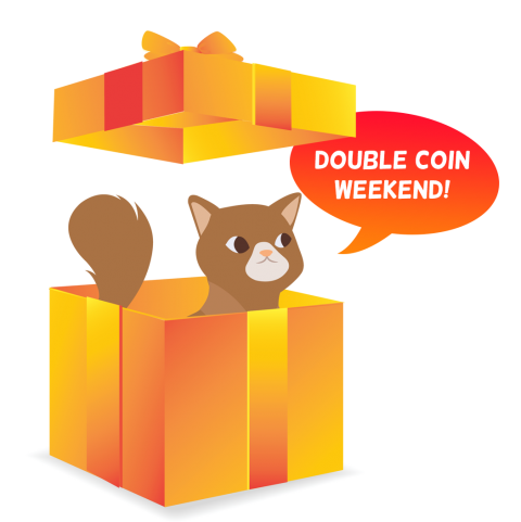 It's a double coin weekend on CopyCatFun.com!