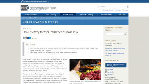 How dietary factors influence disease risk