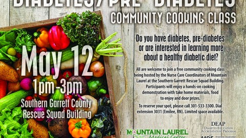 Diabetes/Pre-Diabetes Community Cooking Class
