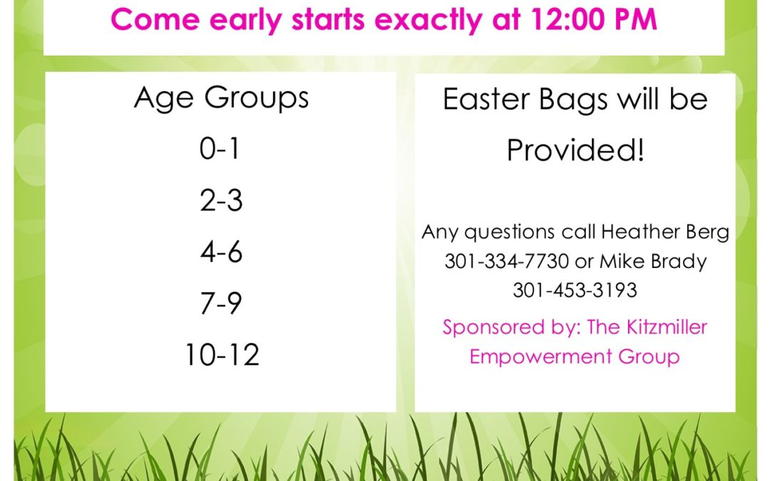 Kitzmiller Empowerment Group Easter Egg Hunt