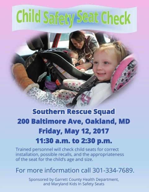 Child Safety Seat Check Scheduled