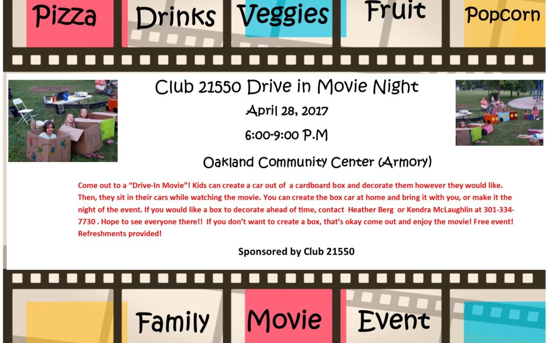 Club 21550 Family Drive in Movie Night