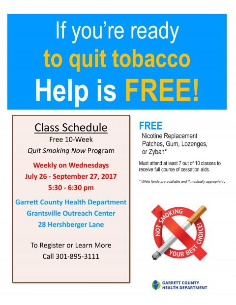 FREE Tobacco Cessation Classes