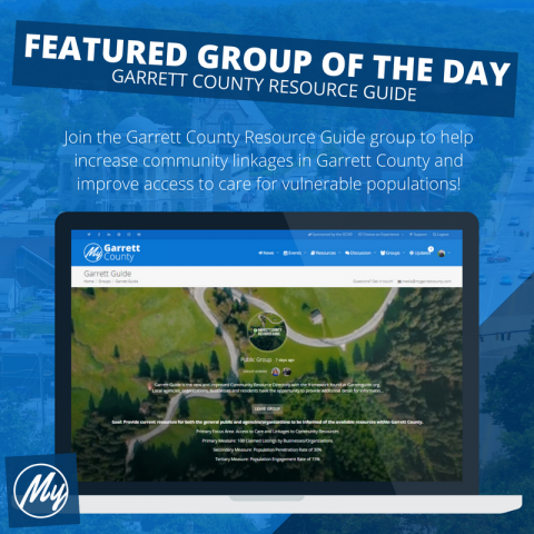 Featured Group of the Day – Garrett County Resource Guide