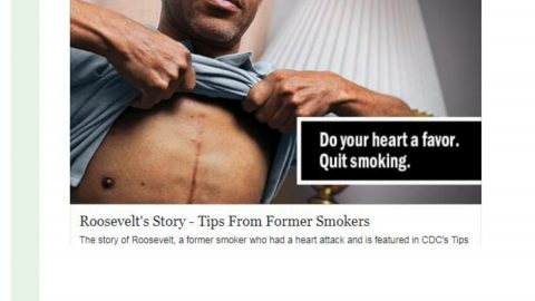 Do your heart a favor. Quit Smoking