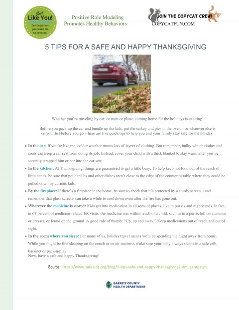 5 TIPS FOR A SAFE AND HAPPY THANKSGIVING