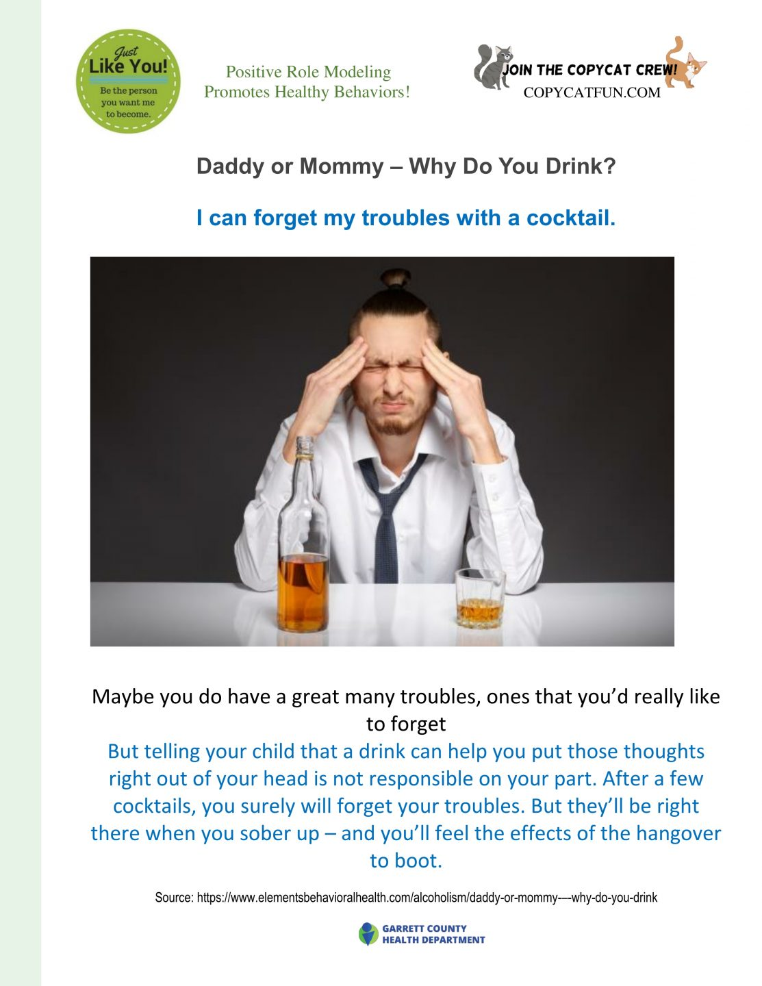 Why do you want to drink